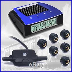 Carchet RV Car Solar TPMS Tire Pressure Monitor System TPMS 6 External Sensor