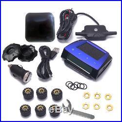 Carchet Wireless RV Solar Tire Pressure Monitor System TPMS+6 External Sensor