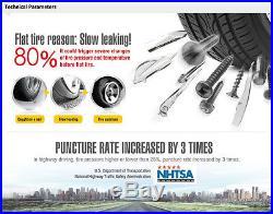 DC 12V Car TPMS Tire Pressure Temperature Tyre Monitor System+4 External Sensors