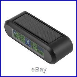 Digital Car Solar TPMS Tire Tyre Pressure Monitoring System 6 External Sensors