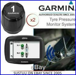 Garmin Tyre Pressure Sensor Monitor System x2For Zumo 590LM-595LM GPS Sat Nav