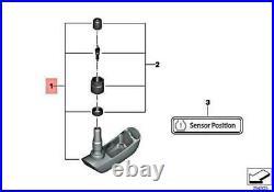 Genuine BMW Fr-Re Tyre Pressure RDC Sensor With Valve R 1200 GS 36318532731 OE
