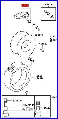 Genuine New Toyota Lexus Tyre Pressure Sensor 42607-50011, 4260750011