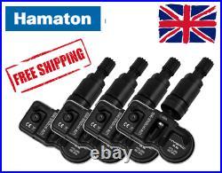 Hamaton Tpms Tyre Pressure Hybrid 3.5 Valve Sensors X4 Ford (graphite Black)