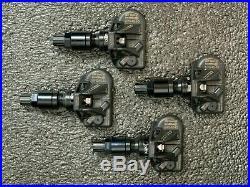 Huf TPMS Tire Pressure Sensors Set Tesla Model 3 Black Valve Stems 433 mhz Set 4
