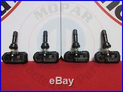 JEEP CHEROKEE DODGE RAM 1500-3500 Tire Pressure Sensor SET Of 4 NEW OEM MOPAR