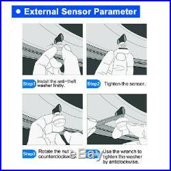 LCD TPMS Tire Tyre Pressure Monitor System + 6 External Sensor For Van RV MA1996
