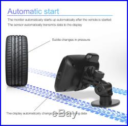 LCD TPMS Tyre Pressure Monitoring System 8 Sensors + Repeater For Trailer RV