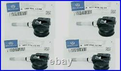 Mercedes Benz C250 C300 E350 W204 W212 Class Tire Pressure Sensor OEM 4 PCS New