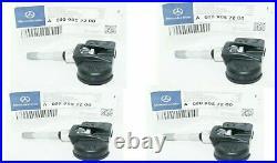 Mercedes G63 G500 G550 G55 AMG Class TPMS Tire Pressure Sensor 4 PCS Oem NEW