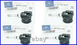 Mercedes W221 S400 S550 S600 AMG Class Tire Pressure Sensor TPMS 4 PCS NEW OEM