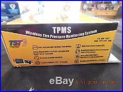 NEW TST TPMS Wireless Tire Pressure Monitoring System 4 FlowThru Sensor TM-507SG