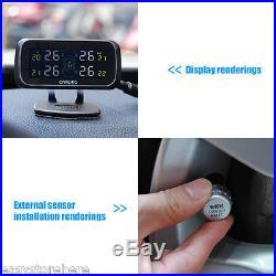 NEW U903 WF TPMS Tire Pressure Monitor System+4 External Sensors LCD Display