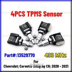 New Set of 4 Tire Pressure Sensor TPMS for 2020 2021 Chevrolet C8 Corvette