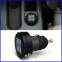 New TPMS Tire Pressure LCD Display Monitoring System Wireless 4 External Sensors