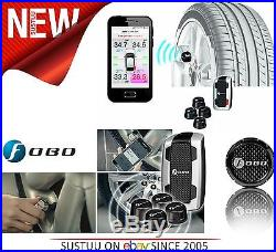 Nextbase Fobo Tyre Pressure Monitor SystemSmartphone-InCar Alert4 Black Sensor