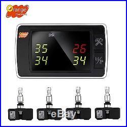 Orange Wireless Tire Pressure Monitoring System BAR/PSI/KPA 4 Internal Sensor