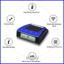RV Car Trailer Solar TPMS Tire Pressure Monitoring System 6 Sensors LCD Display