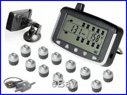 RV TPMS Tire Pressure Monitoring System 12 Sensor Motorhome + Tow Car, Booster