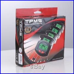Rupse Motorcycle TPMS Wirelss Tire Pressure Monitor System 2 External Sensors