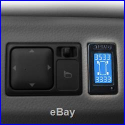 Rupse TPMS Tire Pressure Monitor System+4 External Sensors LCD Display For Honda