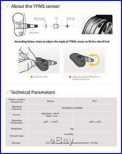 STEELMATE Pro Wireless TPMS Tire Pressure Monitoring System Built-in Sensor New