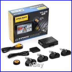 STEELMATE Wireless TPMS Tire Tyre Pressure Monitoring System Built-in 4 Sensors