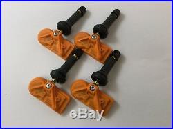 Set 4 Huf TPMS Tire Air Pressure Sensors 315Mhz Rubber fit 07-13 Chevy Silverado