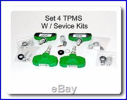 Set 4 TPMS Tire Pressure Sensor With Service Kits Fits GM Lexus Saturn Suzuki