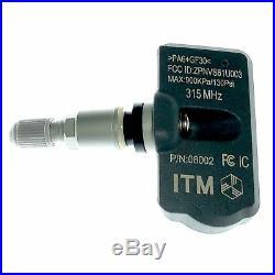 Set 4 TPMS Tire Pressure Sensors 315MHz Metal Snap In Mitsubishi Lancer 2008-10