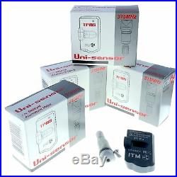 Set 4 TPMS Tire Pressure Sensors 315MHz Metal fits Chevrolet Colorado 2007-2012
