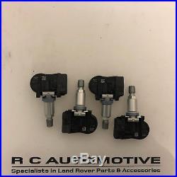 Set Of 4 Jaguar Xf Tyre Pressure Sensor Tpms Valve Gx63-1a159-aa