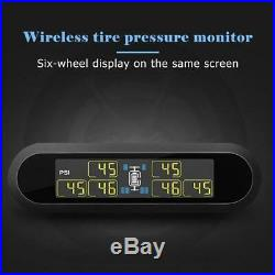 Solar Digital TPMS Tire Pressure Monitor System 6 Sensors T650 For Pickup RV Van