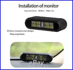 Solar Digital TPMS Tire Pressure Monitoring System 6 Sensors T650 For Pickup Van