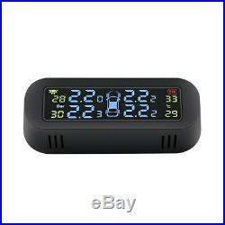 Solar Power Car LCD TPMS Wireless Tire Pressure Monitor System w Internal Sensor