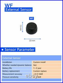 Solar Power LCD TPMS Tire Pressure Monitoring System 6 Sensors For RV Van
