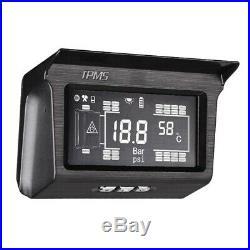Solar Power TPMS Tire Pressure Monitoring System 8 Sensor & Repeater For Trailer