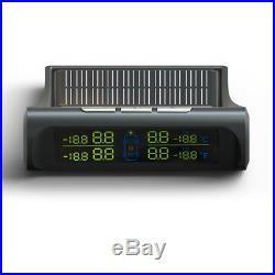 Solar Power TPMS Wireless Car Tyre Pressure Monitoring Alarm System4 Sensor Kit
