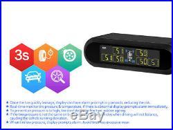 Solar Power Wireless TPMS Tire Pressure Monitoring System 6 Sensors T650 For Van