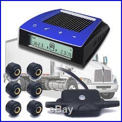 Solar TPMS LCD Tire Tyre Pressure Monitoring System 6 External Sensors for Truck