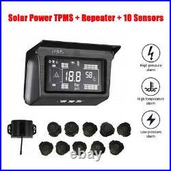 Solar TPMS Tire Temperature Pressure Monitoring System 10 Sensor For Trailer Bus