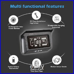 Solar TPMS Tyre Pressure Monitoring System for Truck Bus RV 10 External Sensor