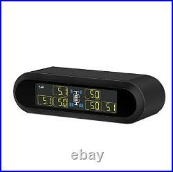 Solar Tire Pressure Monitor with 6 Internal Sensors TPMS for RV Pickup Trailer Van