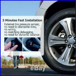 Solar Wireless Car Tire Pressure Monitoring System TPMS 6 Sensor for RV MA2377