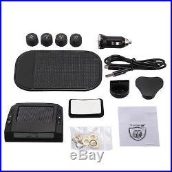 Solar Wireless TPMS Car Tire Tyre Pressure Monitoring System+4 External Sensors