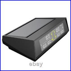 Solar Wireless TPMS Car Tyre Tire Pressure Monitoring System 6 External Sensors