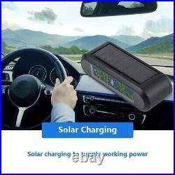 Solar Wireless TPMS Tyre Tire Pressure LCD Monitor System +6 Internal Sensors VF