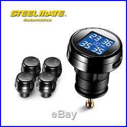 SteelMate TP-74B Car TMPS Tire Pressure Monitoring Intelligent System+4 Sensor