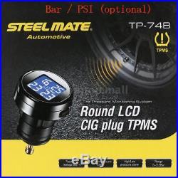 Steelmate TP-74B 4 Sensors Wireless TPMS Tire Pressure Monitor System LCD J1W4