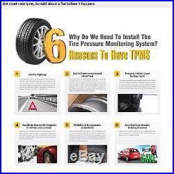 Steelmate TPMS TP-76 Tire Pressure Monitoring System External Sensors LED 4SW3